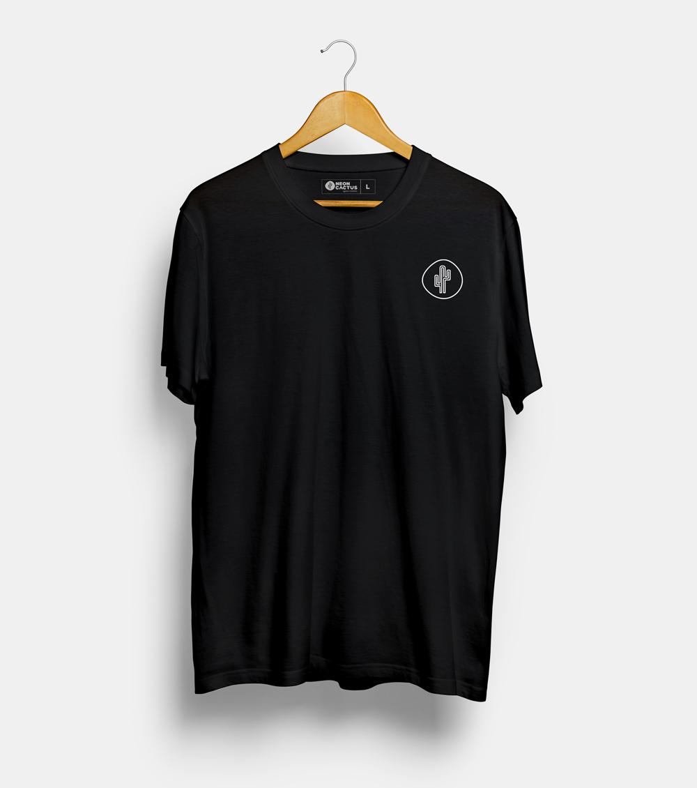 T-Shirt noir Neon Cactus